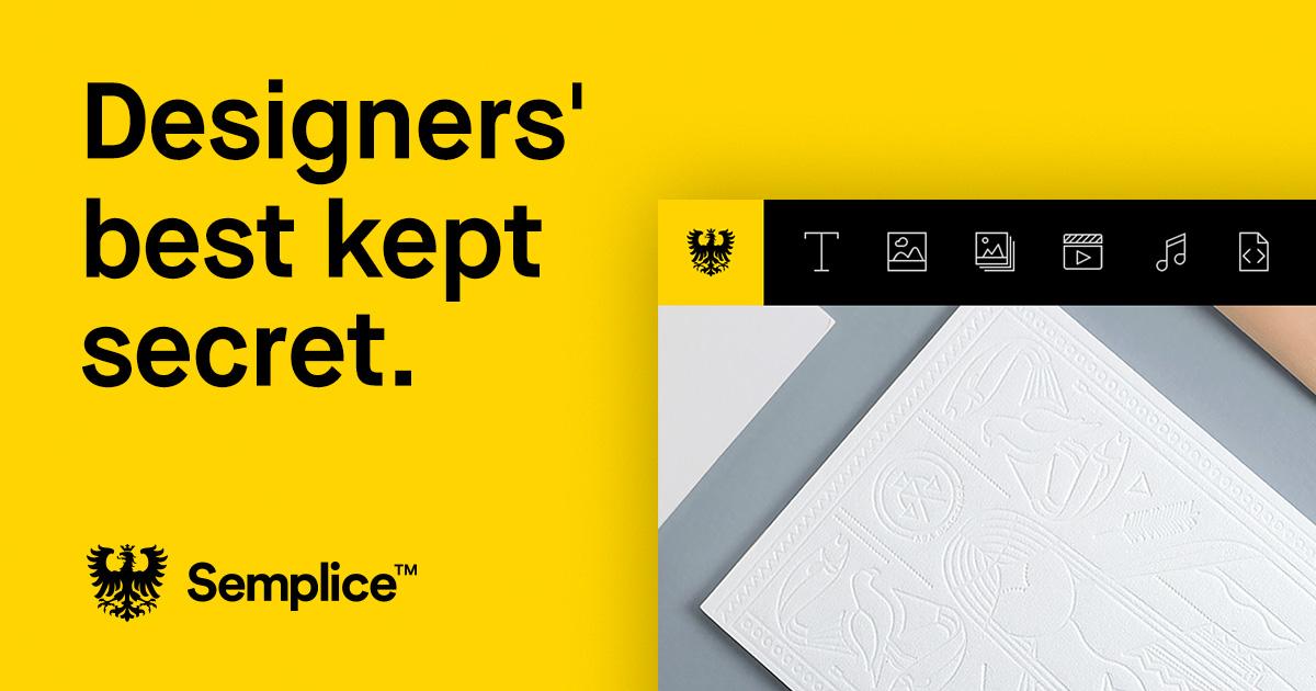 Semplice - A Portfolio Tool by Designers, for Designers