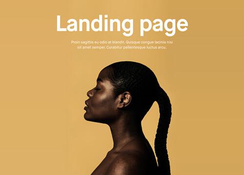 Semplice Landing page